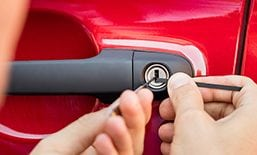 Picking lock on a car door